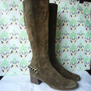Micheal Kors Taupe Suede Ankle Chain Boot!  - 9M
